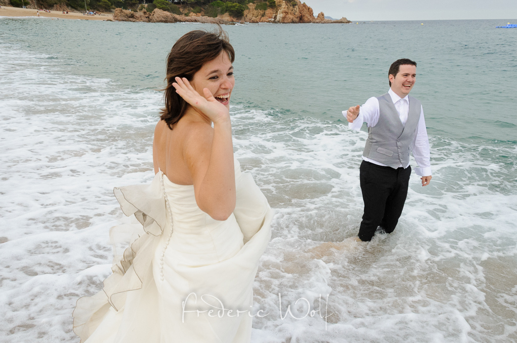 postboda en S'Agaró - Wolf Photographers - Frederic Wolf - Montse Wolf - Trash the dress